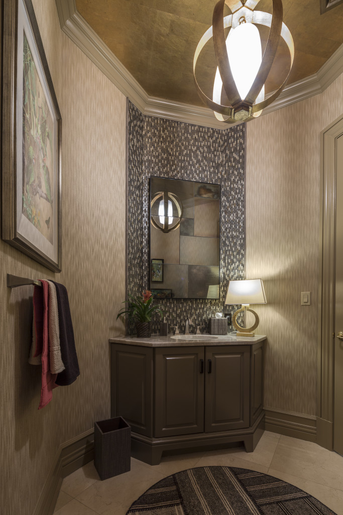 humc show house rear powder rooms 2015 thyme place design - Mosaic Tile House 2015