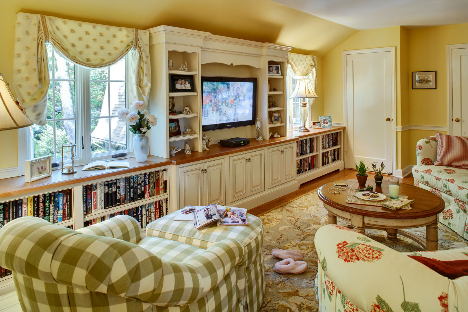 Country French Family Room Thyme Place Design